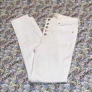 Free People White Denim Crop Jean